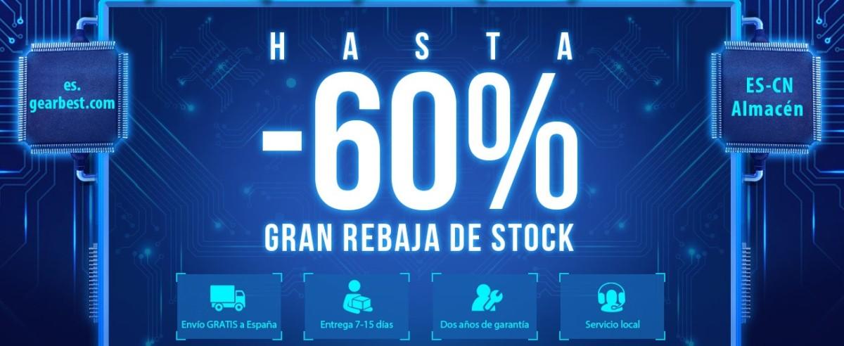 Gearbest 60% descuentos