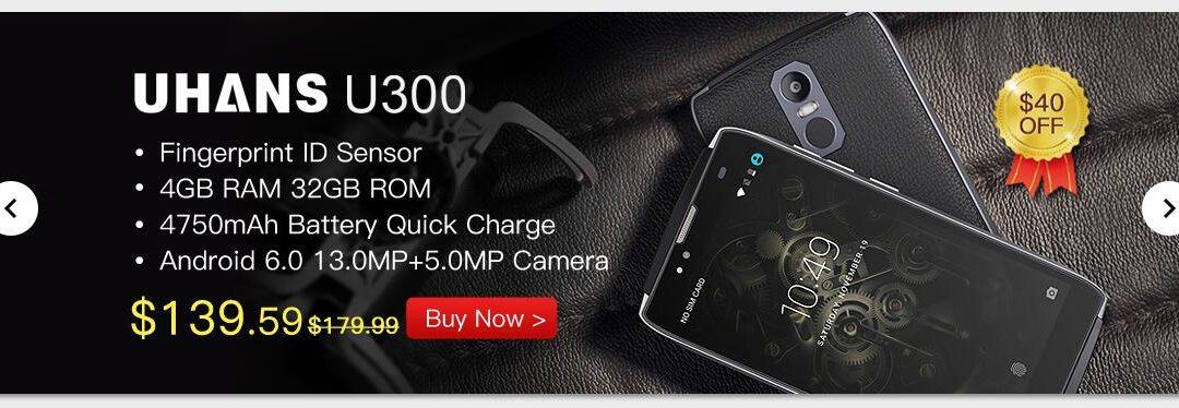 UHANS U300: Smartphone de gama media a precio de locura