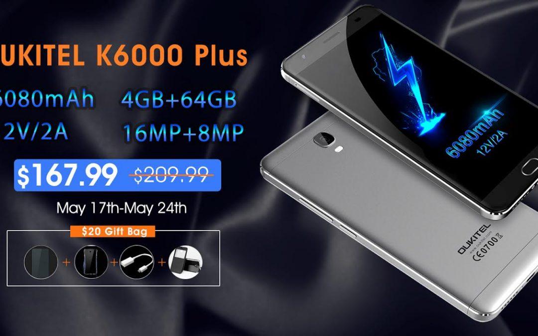 Adquiere el Oukitel K6000 Plus a un precio de locura